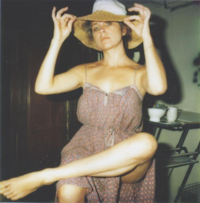Christine 1980 Modeling in Hat