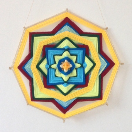 6 Elements - Earth Healing Mandala - woven by Sangeeta Bhagwat