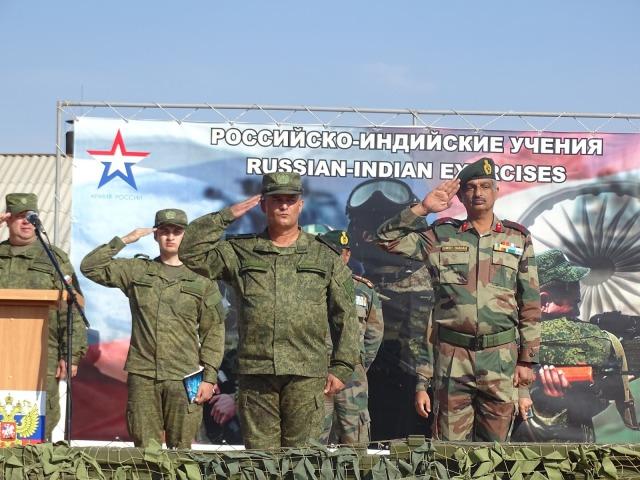 Znalezione obrazy dla zapytania indo russia indra military exercise